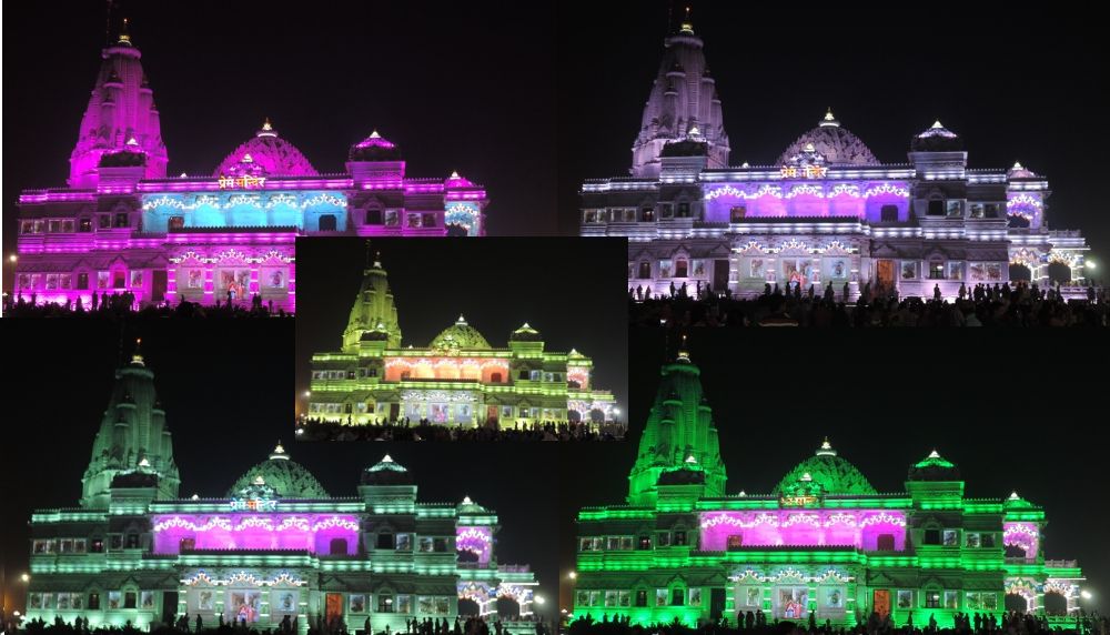 A Temple Which Changes Color