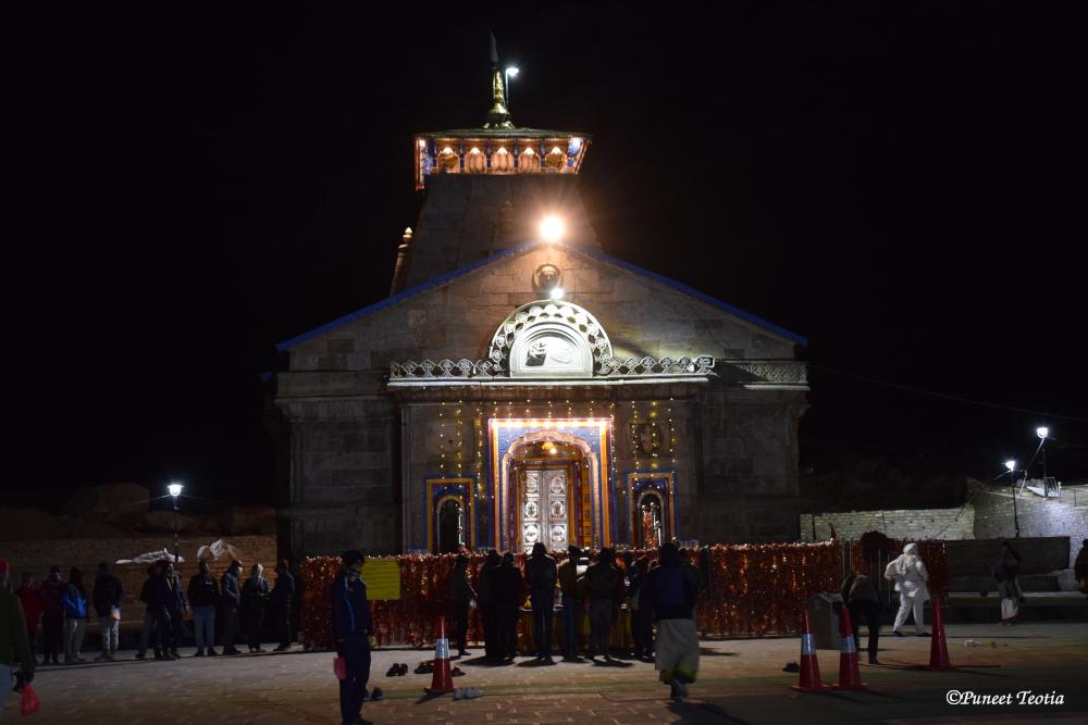 Kedarnath Dham during Early Morning