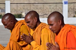 Monks Performing Buddhist Prayer