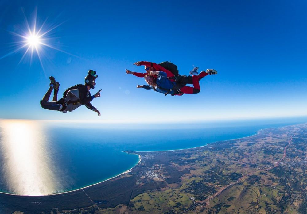 Sky-dive in Mauritius